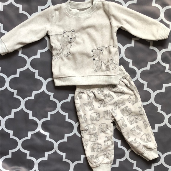 Nwot Just One You Carter's 9 Month Long Sleeve One Piece Top Shirt Boy Set Bear Baby & Toddler Clothing